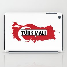 made in turkey country national flag map  iPad Case