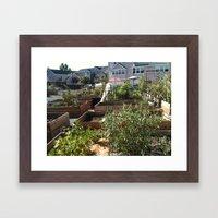 Small Town Framed Art Print