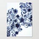 Ballpoint Florals Canvas Print