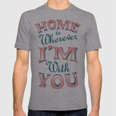 Home Mens Fitted Tee Athletic Grey SMALL