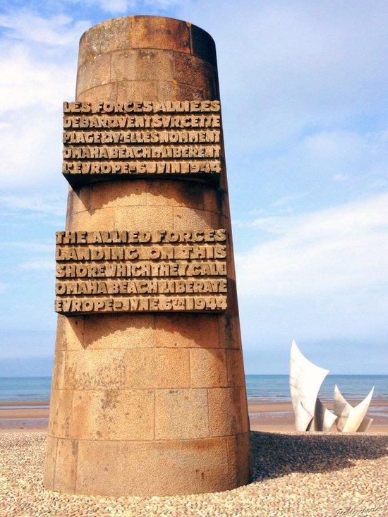 OMAHA BEACH MEMORIAL Art Print
