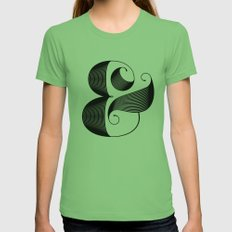 Ampersand Womens Fitted Tee Grass SMALL