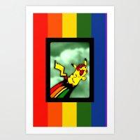 Pika-Zom! Art Print