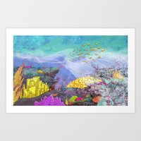 Coral Reef Art Print