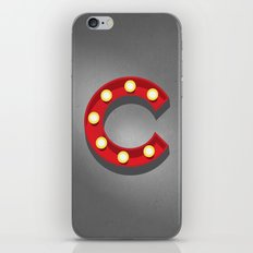 C - Theatre Marquee Letter iPhone & iPod Skin