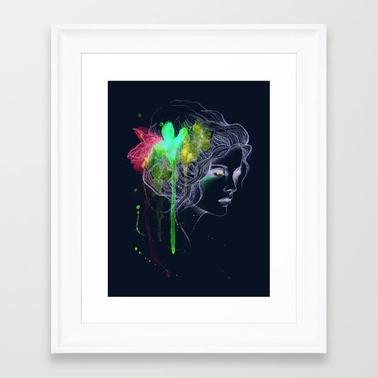 Water Flowers Framed Art Print