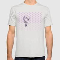 Chibi Momo Mens Fitted Tee Silver SMALL