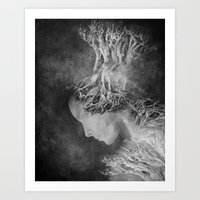 Dark portrait II Art Print