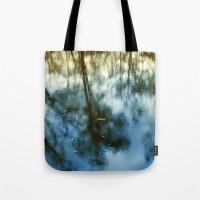Pond Trees  Tote Bag