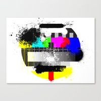 TV Trash Canvas Print