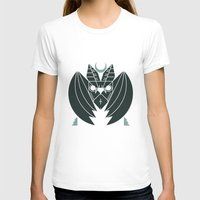 Bat From Transylvania Womens Fitted Tee White SMALL