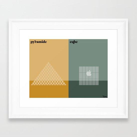 le temple Framed Art Print