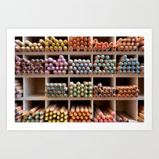 Coloured pencils Art Print