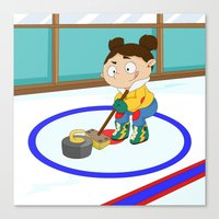 Winter Sports: Curling Canvas Print