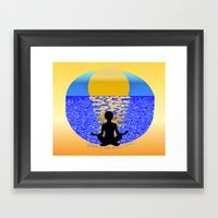 Silence: It Goes Without… Framed Art Print