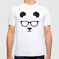Nerd Panda Mens Fitted Tee Ash Grey SMALL