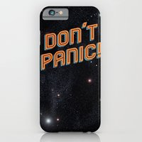 iPhone Cases featuring Don't Panic by Sarajea