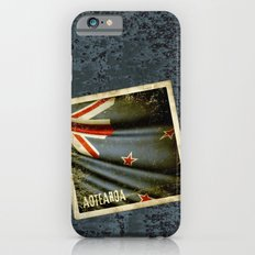 Grunge sticker of New Zealand flag iPhone 6s Slim Case