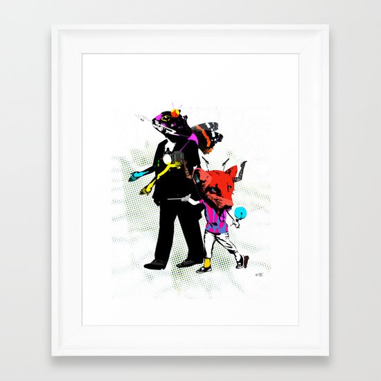 Fabulous Creatures Framed Art Print