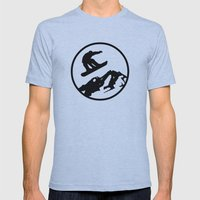 snowboarding 1 Mens Fitted Tee Athletic Blue SMALL