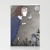 twilight Stationery Cards featuring Winter Twilight by Judith Clay