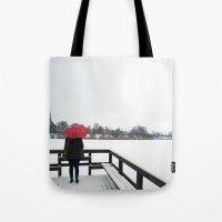 Copenhagen - Red Umbrella Tote Bag