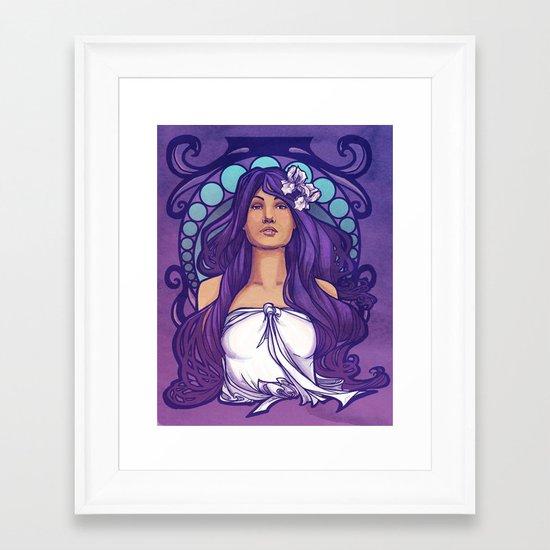 Iris Nouveau Framed Art Print