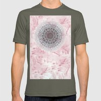 ICELAND MANDALA IN PINK Mens Fitted Tee Lieutenant SMALL