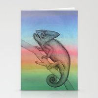 Chameleon (3) Stationery Cards