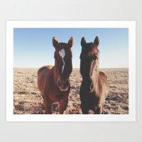 Horse Friends Art Print