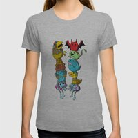 Chicken Fight! Womens Fitted Tee Athletic Grey SMALL