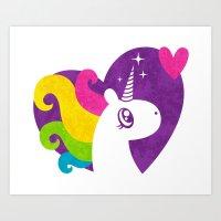Unicorns are Real! Art Print