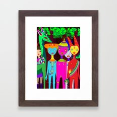 It happens at dark Framed Art Print