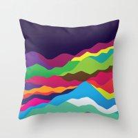 Mountains of Sand Throw Pillow