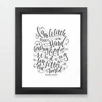 Little Pencil Framed Art Print