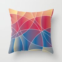 Sunset Curves Throw Pillow