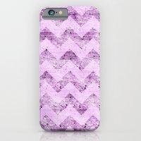 Pink Wood Chevron iPhone 6 Slim Case