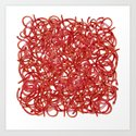 POP ART- RED CABLE Art Print