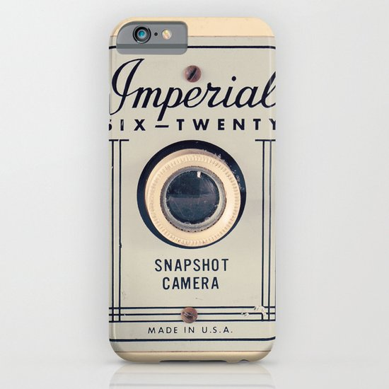Retro Film Camera on Beige - Cream Pattern Background  iPhone & iPod Case