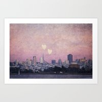 Where We Left Our Hearts Art Print