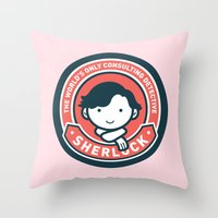 Sherlock - Cute Sherlock Holmes in Red Throw Pillow