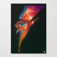 BLACK GLAM TEAR Canvas Print
