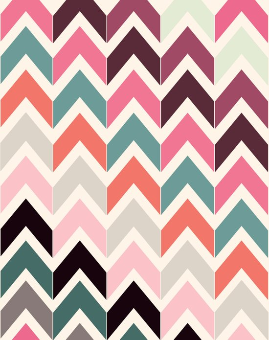 Retro Light Chevrons Art Print