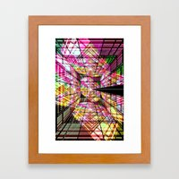 Cubist Dimensions. Framed Art Print