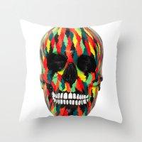 Upoko Skull Throw Pillow