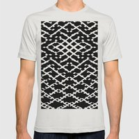 Pattern #5 Mens Fitted Tee Silver SMALL