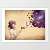 Cosmic Bubbles Art Print
