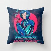 Mecha Dragon Throw Pillow