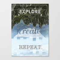 Explore Create Repeat Canvas Print