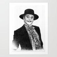 Jack Nicholson Jocker Art Print